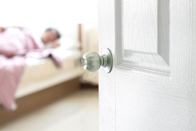 Open Door, Person Sleeping
