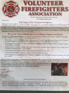 Letter sent to a District resident soliciting for a donation. This association is not endorsed by the Scotts Valley Fire District